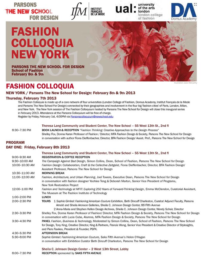 Fashion Colloquia New York. Tendance Sociale 2013