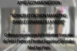 Appel à communication Colloque Mod Spé Paris